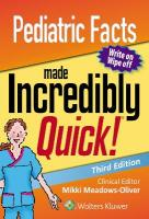 Pediatric Facts Made Incredibly Quick 3rd edition