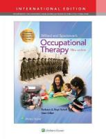 Willard and Spackman's Occupational Therapy Thirteenth, International Edition