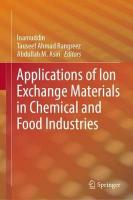 Applications of Ion Exchange Materials in Chemical and Food Industries 1st ed. 2019