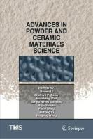 Advances in Powder and Ceramic Materials Science 1st ed. 2020
