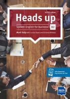 Heads up B2: Spoken English for business. Student's Book with audios