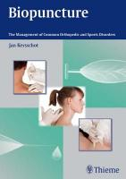 Biopuncture: The Management of Common Orthopedic and Sports Disorders