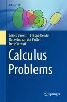 Calculus Problems 2017 1st ed. 2016