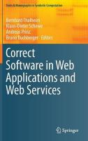 Correct Software in Web Applications and Web Services 2015 ed.