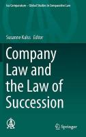Company Law and the Law of Succession 2015 1st ed. 2015