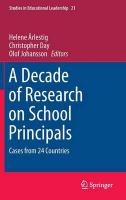 Decade of Research on School Principals: Cases from 24 Countries 2016 1st ed. 2016