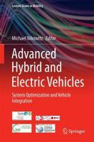 Advanced Hybrid and Electric Vehicles: System Optimization and Vehicle Integration 2016 1st ed. 2016