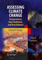 Assessing Climate Change: Temperatures, Solar Radiation and Heat Balance Softcover reprint of the original 3rd ed. 2014