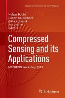 Compressed Sensing and its Applications: MATHEON Workshop 2013 Softcover reprint of the original 1st ed. 2015