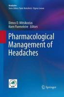 Pharmacological Management of Headaches Softcover reprint of the original 1st ed. 2015