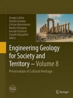 Engineering Geology for Society and Territory - Volume 8: Preservation of Cultural Heritage Softcover reprint of the original 1st ed. 2015,  Volume 8