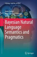Bayesian Natural Language Semantics and Pragmatics Softcover reprint of the original 1st ed. 2015