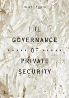 Governance of Private Security 1st ed. 2018