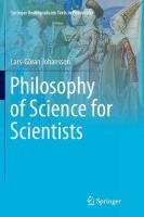 Philosophy of Science for Scientists Softcover reprint of the original 1st ed. 2016