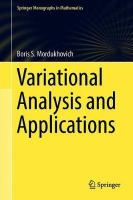 Variational Analysis and Applications 1st ed. 2018