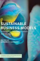 Sustainable Business Models: Innovation, Implementation and Success 1st ed. 2019