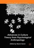 Advances in Culture Theory from Psychological Anthropology 1st ed. 2018