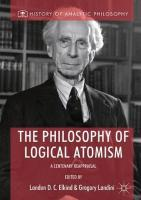 Philosophy of Logical Atomism: A Centenary Reappraisal 1st ed. 2018