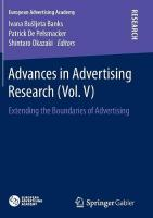 Advances in Advertising Research: Extending the Boundaries of Advertising Softcover Reprint of the Origi ed.