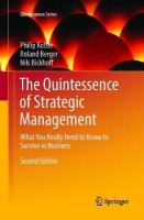 Quintessence of Strategic Management: What You Really Need to Know to Survive in Business 2nd Softcover Reprint of the Original 2nd 2016 ed.