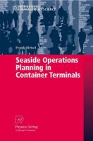 Seaside Operations Planning in Container Terminals Softcover reprint of hardcover 1st ed. 2009
