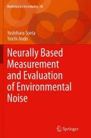 Neurally Based Measurement and Evaluation of Environmental Noise Softcover reprint of the original 1st ed. 2015