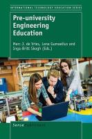 Pre-university Engineering Education