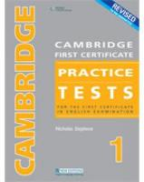 CAMBRIDGE FC PRACTICE TESTS 1REVIDED ED STUDENT BOOK: For the First Certificate in English Examination
