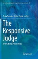 Responsive Judge: International Perspectives Softcover reprint of the original 1st ed. 2018