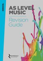 Edexcel AS Level Music Revision Guide